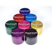 """Diamond Grind medium 2.5"""" 63 mm 4 part grinder anodized colors"""